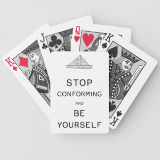 Be Yourself Bicycle Playing Cards