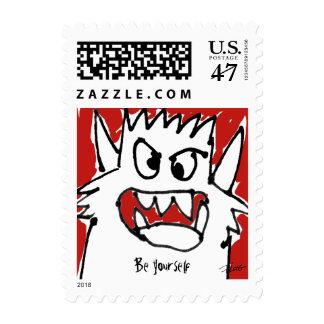 Be Yourself Cartoon Monster Custom Postage