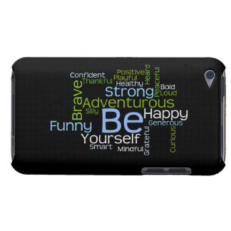 BE Yourself Inspirational Word Cloud Barely There iPod Case