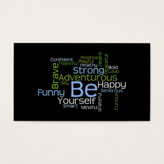 BE Yourself Inspirational Word Cloud Business Card