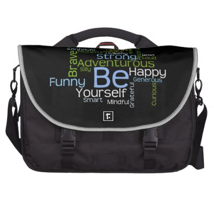BE Yourself Inspirational Word Cloud Commuter Bags