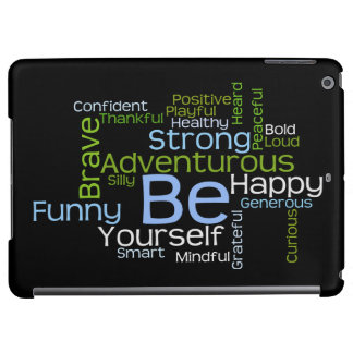 BE Yourself  Inspirational Word Cloud iPad Air Cases