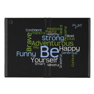 BE Yourself  Inspirational Word Cloud iPad Mini Cover