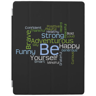 BE Yourself Inspirational Word Cloud iPad Smart Cover