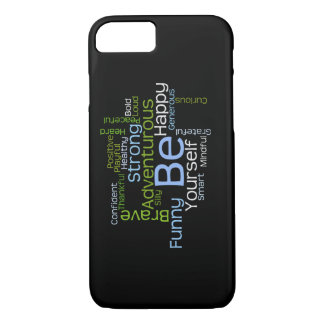 BE Yourself Inspirational Word Cloud iPhone 7 Case