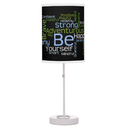 BE Yourself Inspirational Word Cloud Lamp