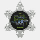BE Yourself  Inspirational Word Cloud Personalize Ornament