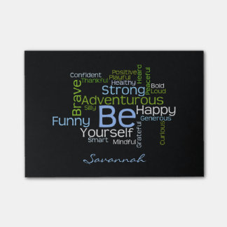 BE Yourself  Inspirational Word Cloud Post-it Notes