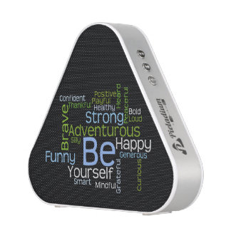 BE Yourself Inspirational Word Cloud Speaker