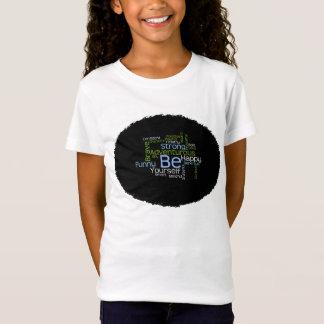 BE Yourself Inspirational Word Cloud T-Shirt