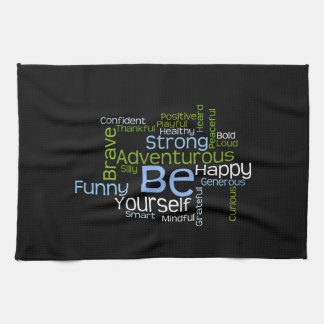 BE Yourself Inspirational Word Cloud Towels