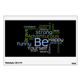 BE Yourself Inspirational Word Cloud Room Graphics