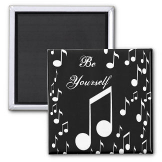 Be yourself_ Magnet_by Elenne Boothe 2 Inch Square Magnet