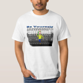 Be Yourself Men´s T-Shirt White