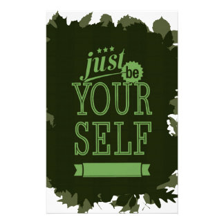 Be yourself Motivational Stationery