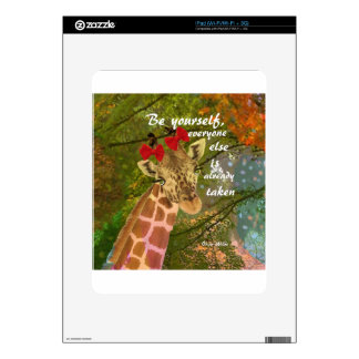 Be yourself no matter others say decal for iPad