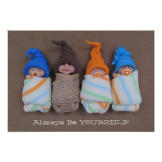 Be Yourself: Polymer Clay Babies, One Different Poster