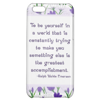 Be Yourself Spring Flowers Crocus iPhone Case iPhone 5C Cases