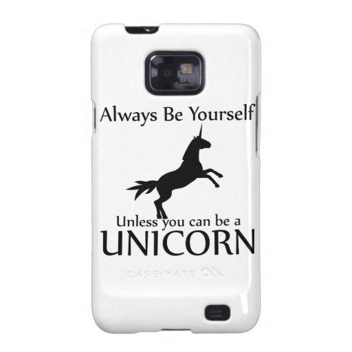 Be Yourself Unicorn Galaxy SII Covers