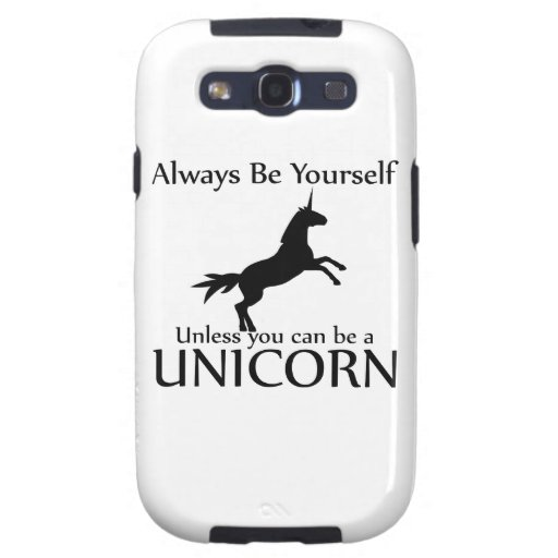 Be Yourself Unicorn Samsung Galaxy SIII Cases