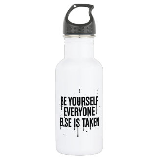 Be Yourself Water Bottle (18 oz), White