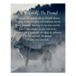 Be Yourself Wolf Poster