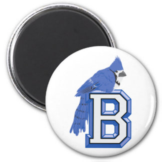 Bea Blue Jay 2 Inch Round Magnet