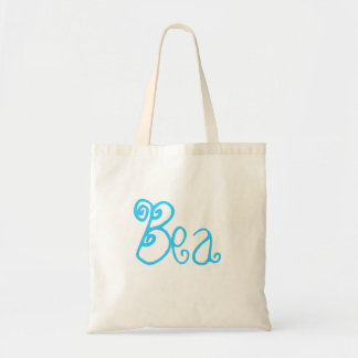 Bea - Green and White Budget Tote