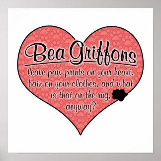 Bea Griffon Paw Prints Dog Humor Print