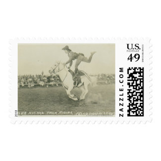 Bea Kirnan trick riding. Postage