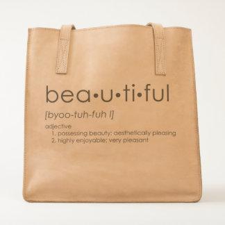 Bea•u•ti•ful Leather Tote Bag