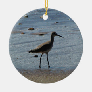 BEABIR Beach Birdie Ceramic Ornament