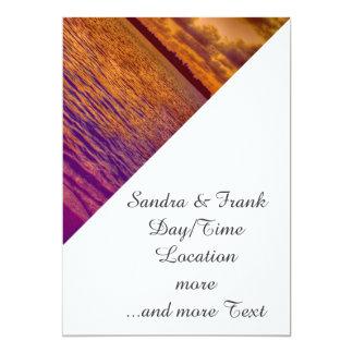 beach,18 5x7 paper invitation card