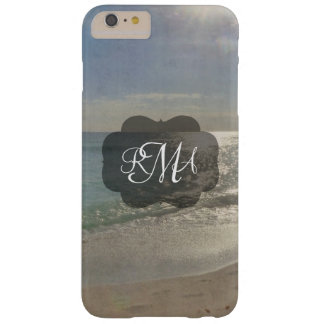 Beach 3-Letter Monogram Initials Ocean Barely There iPhone 6 Plus Case