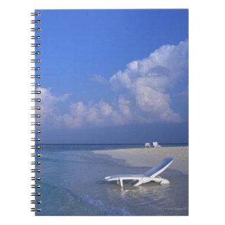 Beach 3 spiral note books