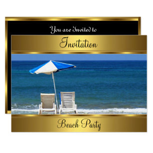 Beach 50th Birthday Party Invitation