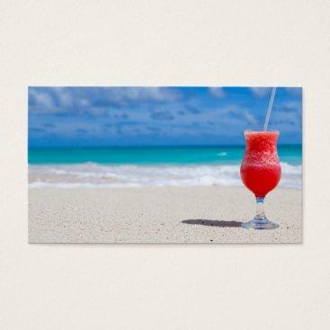 Beach Themed beach-84533 beach beverage caribbean cocktail drin business card