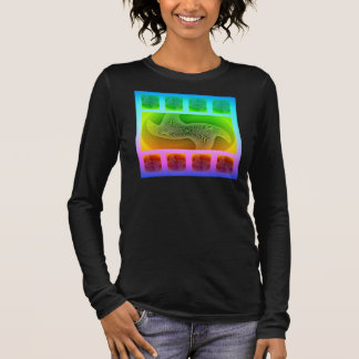 """Beach"" , a Women's Digital Abstract Art Tee"