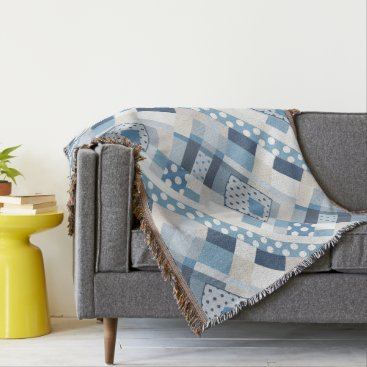 Beach Themed Beach Abstract Geometric Pattern Throw Blanket