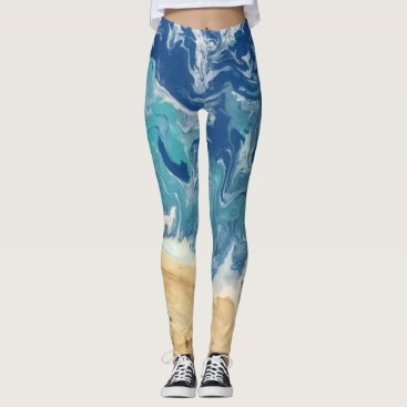 Beach Abstract Legging
