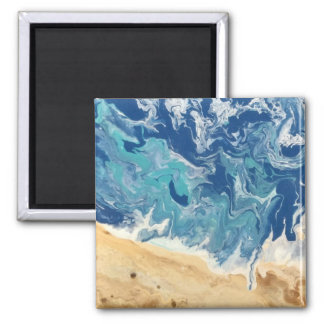 Beach Abstract Magnet