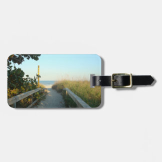 Beach Access Personalized Luggage Tag
