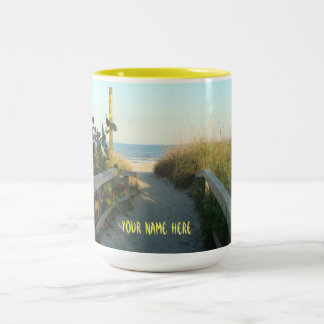 Beach Access Personalized Mug