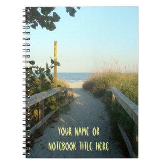 Beach Access Personalized Spiral Note Book