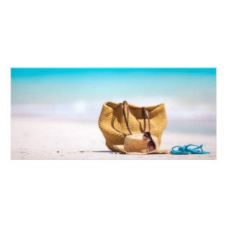 Beach accessories rack card