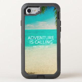 Beach Adventure is Calling Travel Quote Phone OtterBox Defender iPhone 7 Case