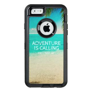Beach Adventure is Calling Travel Quote Phone OtterBox Defender iPhone Case