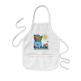 BEACH African American Boy Tshirts and Gifts Apron