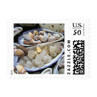 Beach Agates Rocks postage stamps invitations Card