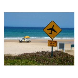 Beach Airstrip on Fraser Island Postcard